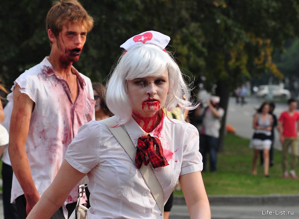 Шествие зомби в Екатеринбурге 2013 фото Виталий Караван