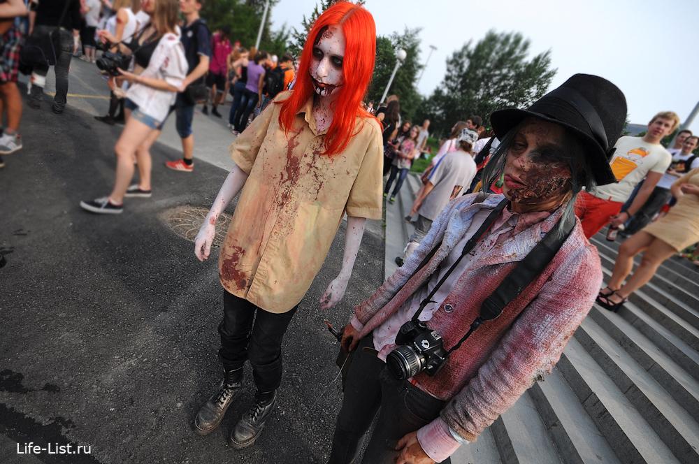 флешмоб шествие мертвецов зомби в Екатеринбурге
