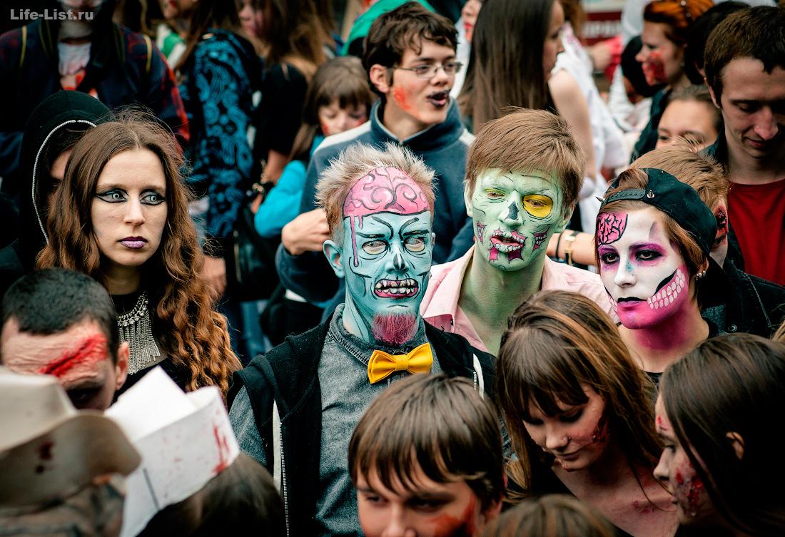 флешмоб зомби моб на Вайнера zombie mob 2015 фотограф Виталий Караван